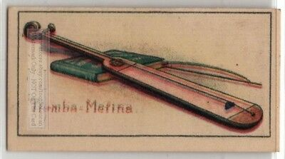 Tromba Marina Medieval Stringed Instrument Vintage Ad Trade Card
