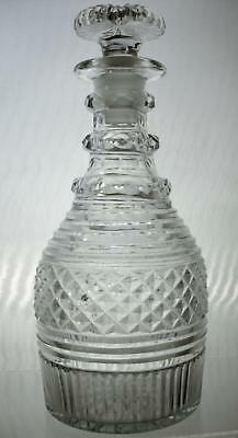 Early 19th Century Cut Glass Three Ring Decanter - Sale This Week