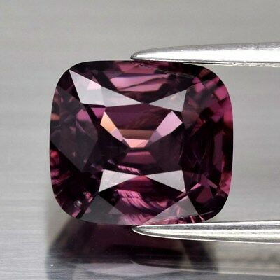 4.40ct 9.5x8.5mm Cushion Natural Pinkish Purple Spinel, M'GOK