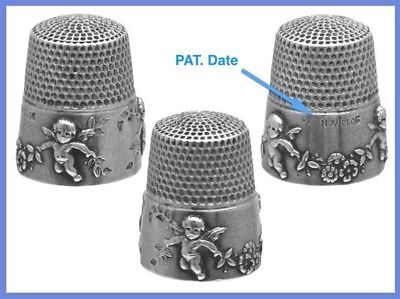 Patented Sterling Silver Thimble 'Cupids' *C.1905