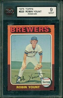 1975 Topps #223 Robin Yount Rc Ksa 9 Mint Rookie Card
