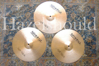 """HAND HAMMERED ISTANBUL MEHMET HAT TRICK 14"""" HIHATS 948 1110 & 1402 Gs"""