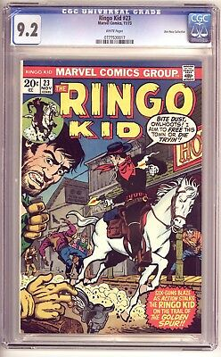 RINGO KID #23 CGC 9.2, Don Rosa Collection, With Cert. Marvel Comics 1973