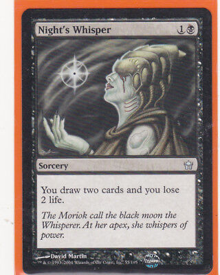 MTG Fifth (5th) Dawn 1 x  NIGHT'S WHISPER  Uncommon card  Never played  AS NEW
