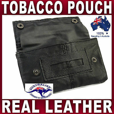 A Grade Nappa Soft Leather Tobacco Pouch Smoke Cigarette Case  Filters Papers
