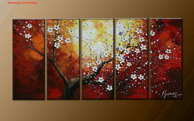 Large Framed Abstract Flower Oil Painting Art Wall Modern Decor on Canvas FY3613