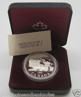 "Canada - 1981 $1 Silver Proof Coin. "" Steam Train """