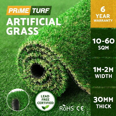 Primeturf 10SQM Synthetic Turf Artificial Grass Plastic Plant Fake Lawn 30mm