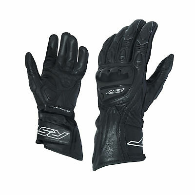 RST 2085 R-18 Semi Sport CE Approved Leather Motorcycle Bike Gloves - Black
