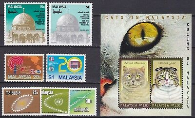 Malaysia Commemorative Sets + S/s (24) Mint Never Hinged