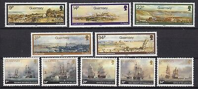 Guernsey 2 X Sets Commemoratives Below Face Value (27) Mint Never Hinged