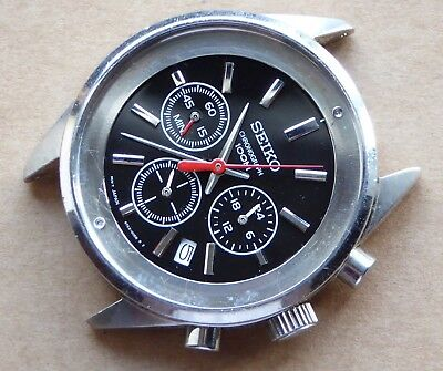 Seiko watch incomplete for parts or repair, Chronograph 100M, 6T63-00D8 R2.
