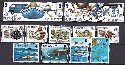 Guernsey 3 X Sets  Commemoratives Below Face Value (32) Mint Never Hinged