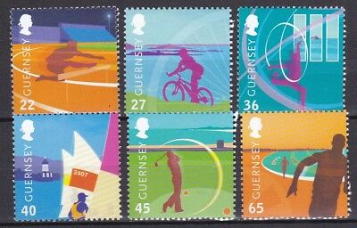 Guernsey 2003 Island Games Set Below Face Value (38) Mint Never Hinged