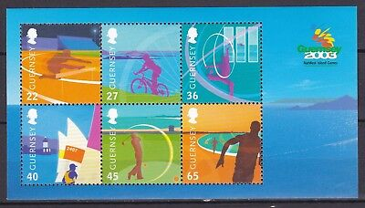 Guernsey 2003 Island Games S/s Below Face Value (39) Mint Never Hinged