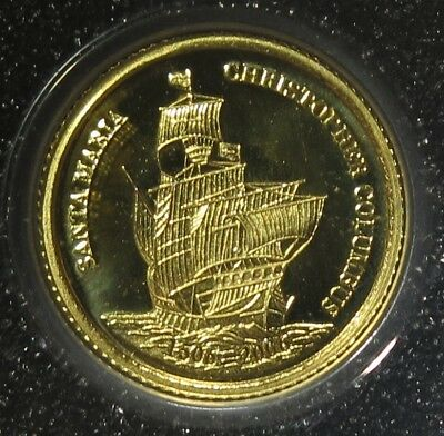 "Palau 2006  ""Christopher Columbus ""  Half Gram Gold Proof Coin"