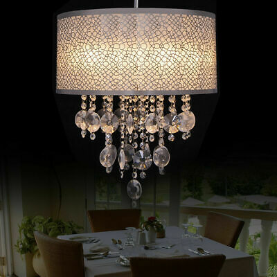 Semi Pendant Crystal Chandelier Brushed Chrome Finish Ceiling Lamp Artist Light