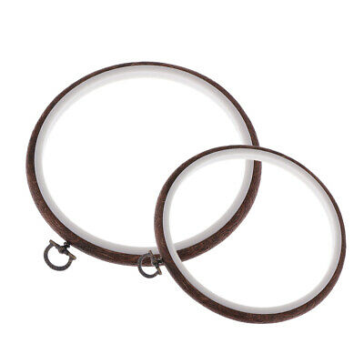 2Pcs Wooden Embroidery Hoop Ring Cross Stitch Circle Frame Sewing Craft Tool