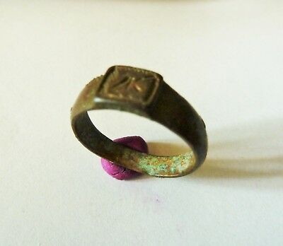 Post medieval bronze ring with initials (237).