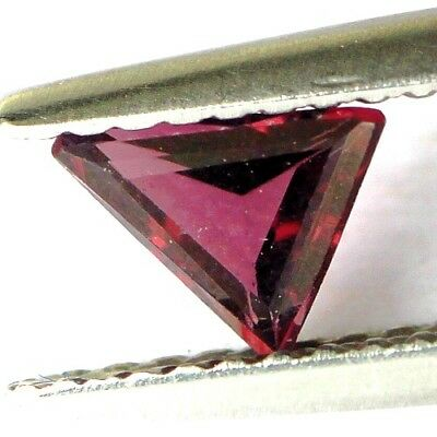 #*0.41 cts. 5.6 x 4.8 mm. UNHEATED NATURAL PURPLE SPINEL TRIANGLE BURMA