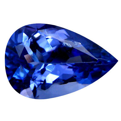 1.82Ct MIND BOGGLING ! TOP RICH FIRE AAA+ BLUISH VIOLET NATURAL TANZANITE