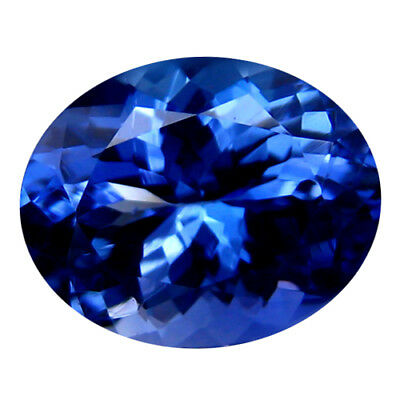 2.18Ct MIND BOGGLING ! TOP RICH FIRE AAA+ BLUISH VIOLET NATURAL TANZANITE