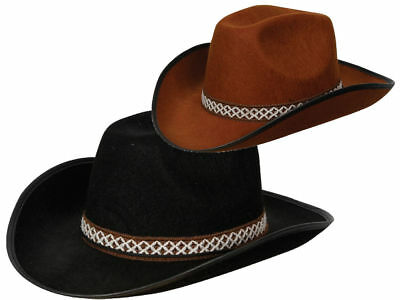 Adults Cowboy Hat Mens Ladies Wild West Rodeo Fancy Dress Hen Stag New