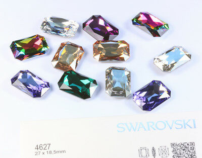Genuine SWAROVSKI 4627 Thin Octagon 27mm Fancy Crystals * Many Colors