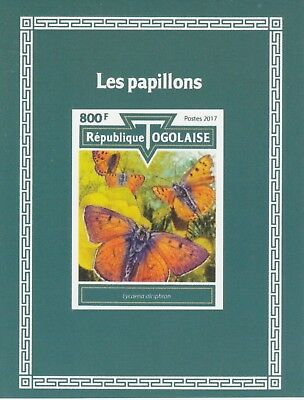 Togo 7529 - 2017  BUTTERFLIES imperf deluxe sheet unmounted mint