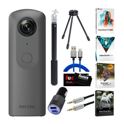 Ricoh THETA V 360 4K Spherical VR Camera with Video Editing Software Bundle