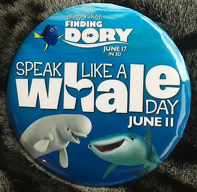 Disney Button Pixar Finding Dory Speak Like A Whale Day Disneyland June 11