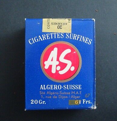 Paquet 20 Cigarettes Surfines Algerie Suisse As Tobacco Tabacs Ancien Pack Old