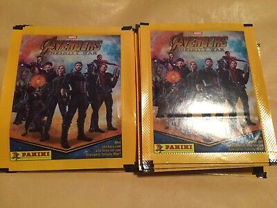 50 Packets Packs of Avengers Infinity War Stickers NEW OUT PANINI PLEASE READ