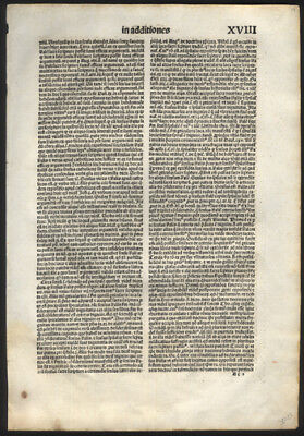Leaf Lot of 20 Miscellaneous Leaves 1497 Incunable Bible   Variety of Subjects