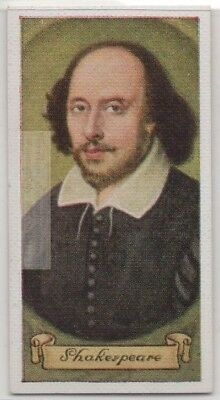 English Poet William Shakespeare Playwright Actor Avon  80+ Y/O Trade Ad Card