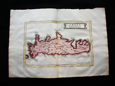 1676 VAN DER KEERE - orig. map: Greece, Creete, Candia, Heraklion, Athens Aegean
