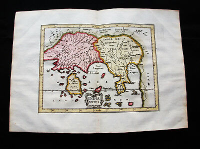 1676 VAN DER KEERE - orig. map of Asia, East Indies, India, Sri Lanka, Indonesia