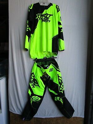 jersey XL neon orange SHOT race gear CLAW combo set motocross men/'s pants 32