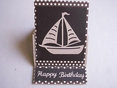 Handmade Masculine Birthday Card Sailboat Easel Birthday Card Using