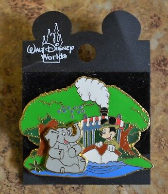 WDW Jungle Cruise Mickey Riverboat Elephant 3D LE Trading Pin New on Card