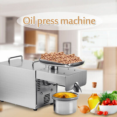 110V Stainless Steel Commercial Automatic Oil Press Extraction Machine US STOCK