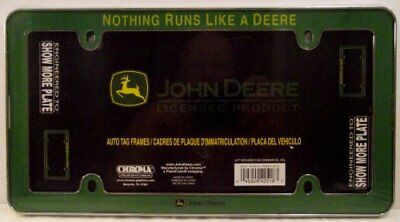 John Deere Auto Car Truck License Plate Tag Frame Plastic Nothing Runs Like A