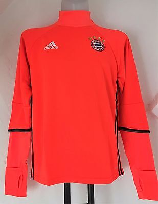Bayern Munich Red L/s Training Top By Adidas Size Adults Large Brand New