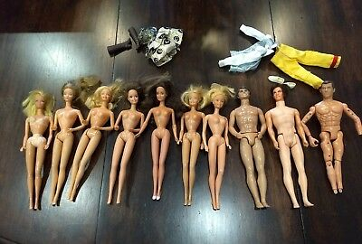 Vintage 1966/'68 Mattel Barbie & Ken Dolls *Lot of 10