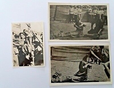 2 X CHINA POSTCARDS ~ Real Photo ~ BEHEADING / EXECUTION / SOLDIERS + PHOTO
