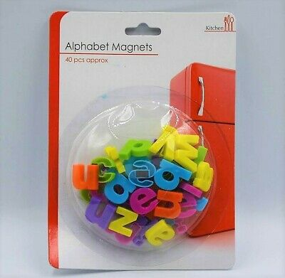 New 40 Colourful Magnetic Lower Case Letters Alphabet Fridge Magnets Sil
