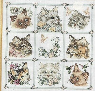 Janlynn Counted Cross Stitch Kit,CAT SAMPLER,Sealed,MPN 80-234,Stoney Creek,1994