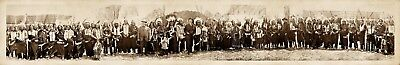 """1908 Wild Bill Cody & Group of American Indians Panoramic Photograph 42"""" Long"""