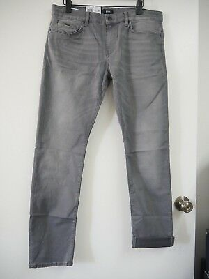 9e55456bf Hugo Boss Men's Delaware 3-1 Slim-Fit Italian Stretch Grey Jeans, MSRP