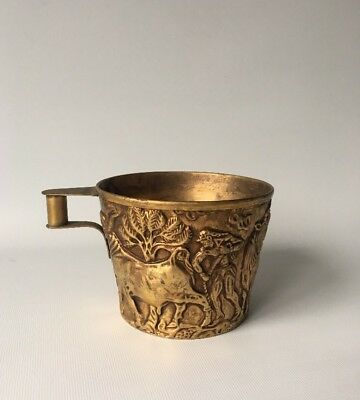 Greek Replica Ancient Minoan Vaphio Cup Leaping Running Bulls